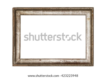 very old wooden frame. isolated ...