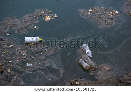 Very polluted sea
