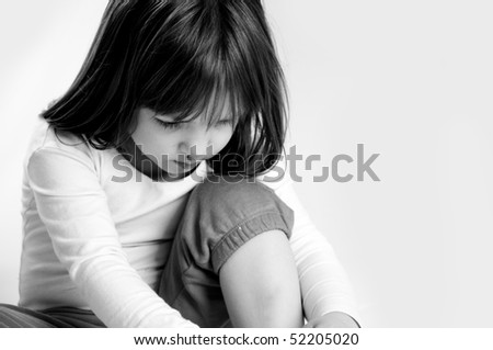 very sad little girl