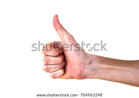 Very special hand signs, hand signs used in daily life, body language signs #704963248