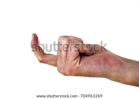 Very special hand signs, hand signs used in daily life, body language signs #704963269