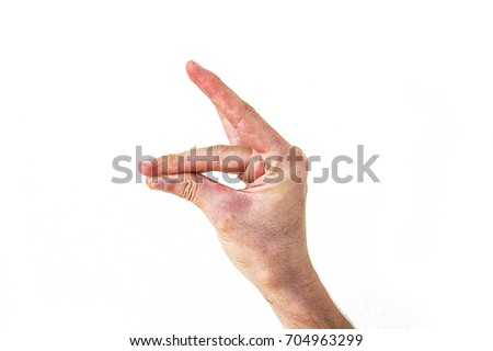 Very special hand signs, hand signs used in daily life, body language signs #704963299