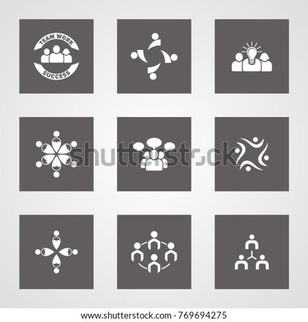 Very Useful Vector Team Icon Set. #769694275