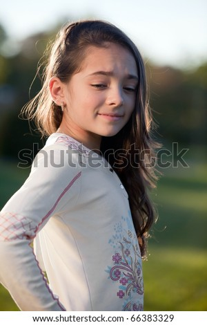 Very Young Little Girl Models http://www.shutterstock.com/pic-66383329/stock-photo-very-young-girl-portrait-in-a-sunset-park-photo-session-very-shallow-depth-see-more-images.html