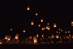 Vesak Floating Lantern, Borobudur, Central Java