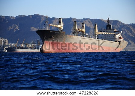 vessel on sea in Jordan