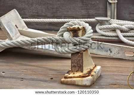 Vessel part with rope