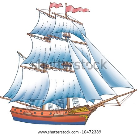Vessel with sails