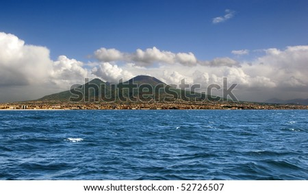 Vesuvio volcano. View from sea.