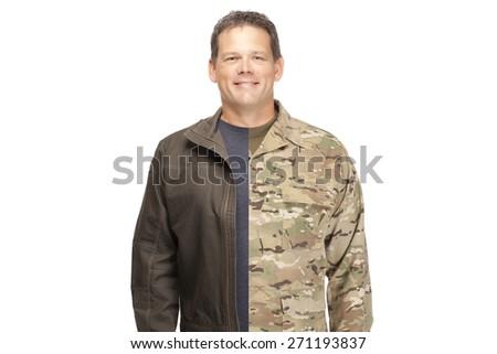 Veteran Soldier | Military to civilian transition  ストックフォト ©