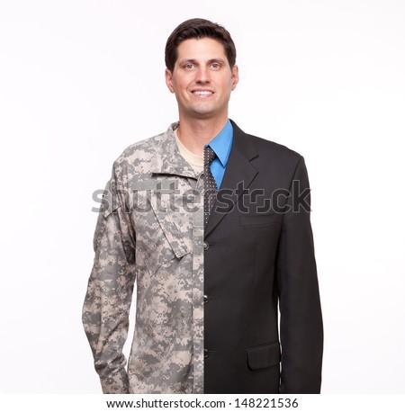 Veteran Soldier | Young man with split careers #148221536