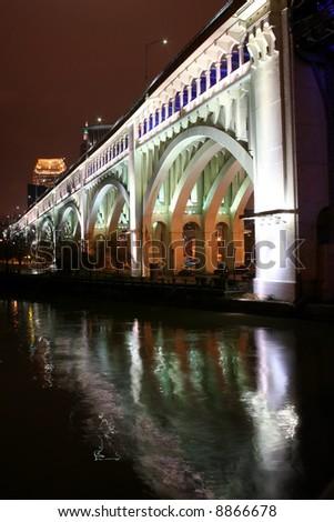 Veterans bridge in Cleveland Ohio