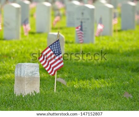 veterans memorial cemetery flags American National