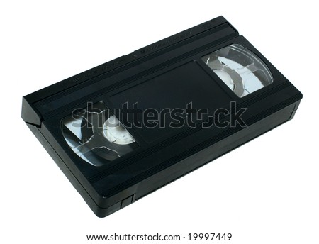 vhs video cassette isolated on white