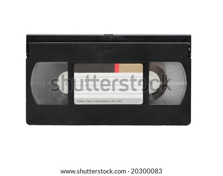 VHS video cassette isolated on white background