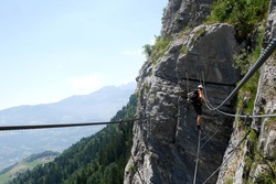 Via ferrata in the Alps