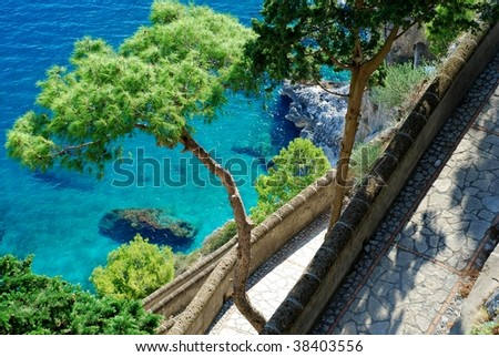 Via Krupp at Capri Island