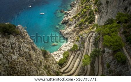 Via Krupp on Capri island, Italy #518933971