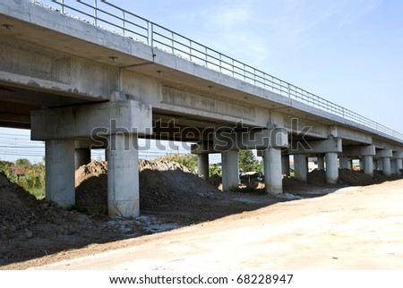 viaduct,Chachoengsa o in Thailand - stock photo