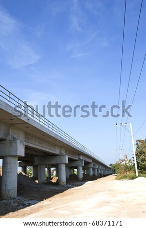 viaduct,Chachoengsao in Thailand