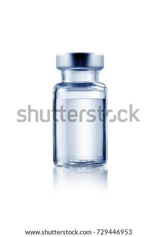 Vial medical isolated