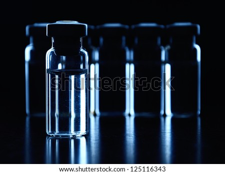 Vials of medications.