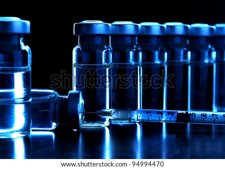 Vials of medications. MANY OTHER PHOTOS OF VIALS, SYRINGES IN MY PORTFOLIO.