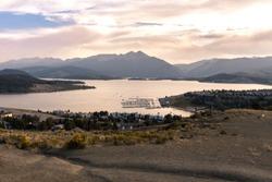 Vibant sunset and mountain views near Lake Dillon, Colorado.