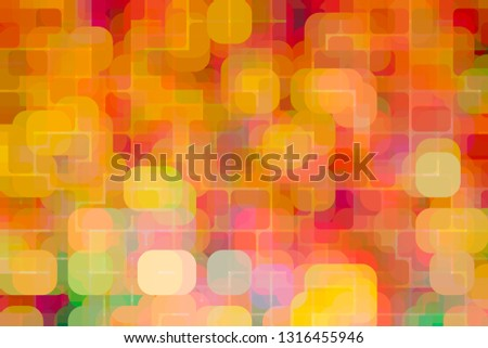 Vibrant Bold Colorful Background with a modern retro style in groovy warm color combinations