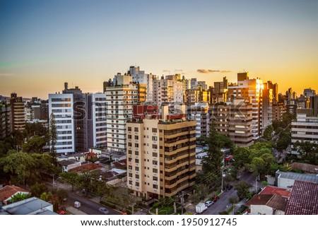Vibrant cityscape of Porto Alegre Brazil  Foto stock ©