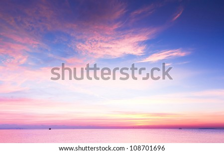 Vibrant Cloudscape At Sunrise