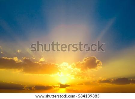 Vibrant Cloudscape At Sunrise  #584139883