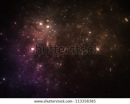 Vibrant colors night sky with stars
