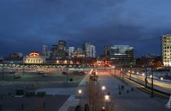 Vibrant Denver LoDo District in Twilight