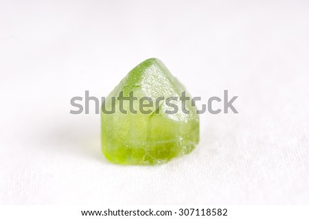 vibrant green forsterite crystal mineral sample gem, science geology