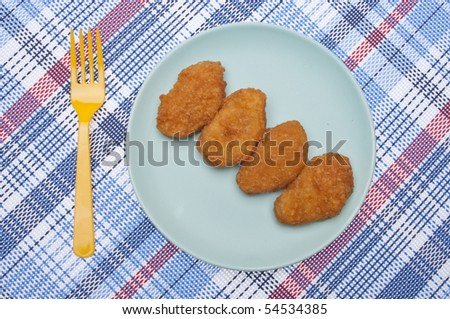 Vibrant Kid Friendly Chicken Nugget Dinner or Snack.