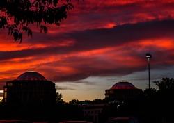 Vibrant sunset in Charlotte, NC