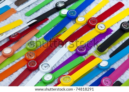 Vibrant wristwatches