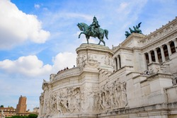 Victor Emmanuel II Monument (Altar of the Fatherland), built in honor of the first king of Italy, in Rome, Italy