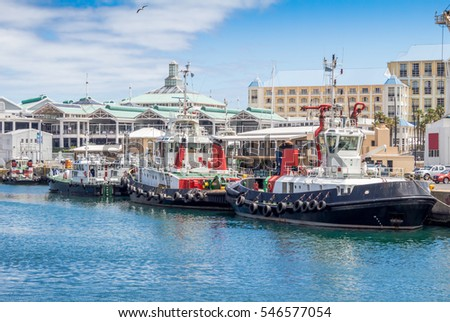 Victoria and Alfred Waterfront and harbour in Cape Town, South Africa #546577054