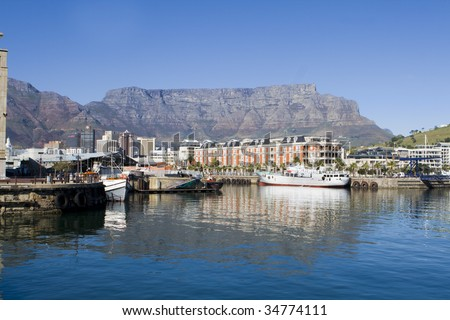 Victoria and Alfred Waterfront harbour in Cape Town, South Africa #34774111