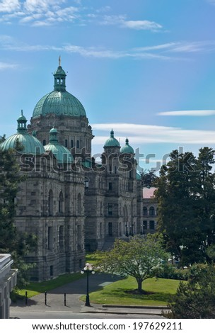 VICTORIA, BC - CIRCA JUNE 2014 - B.C. Legislature aka The Paliament Buildings.