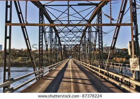 Victoria Bridge over the South Saskatchewan River in the city of Saskatoon, Canada