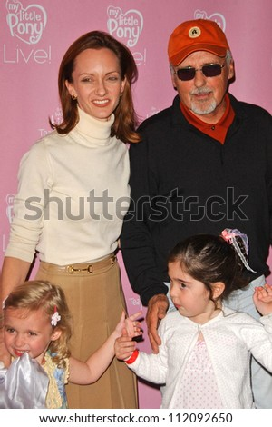 "Victoria Duffy and Dennis Hopper and their children at the Hollywood Premiere of ""My Little Pony Live! The World's Biggest Tea Party"". Kodak Theatre, Hollywood, CA. 03-15-07"