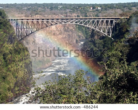 Victoria Falls bridge between Zambia and Zimbabwe