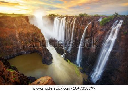 Victoria Falls in Zambia and Zimbabwe ストックフォト ©