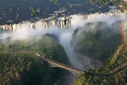 victoria falls on helicopter