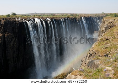 Victoria Falls panoramic view, Zimbawe #687792250