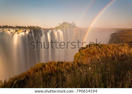 Victoria Falls, Zimbabwe, one of the seven wonders of the Natural World #790654594