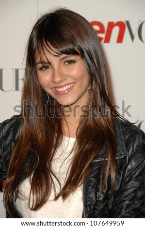 Victoria Justice  at the Teen Vogue Young Hollywood Party. Los Angeles County Museum of Art, Los Angeles, CA. 09-18-08